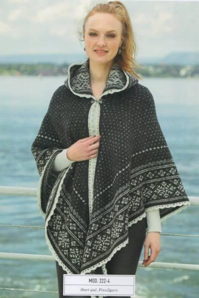 Garnpakke Rauma 222-4 Stort sjal med hette